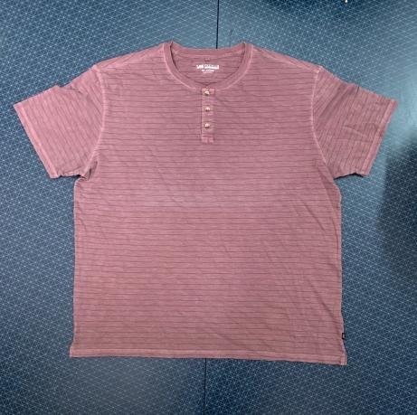 Мужская бордовая футболка в полоску
