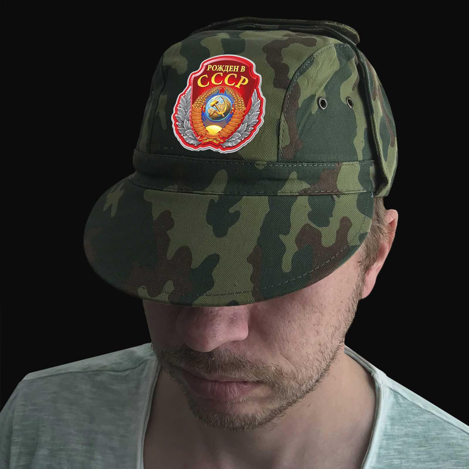 """Мужская кепка """"Рожден в СССР"""""""