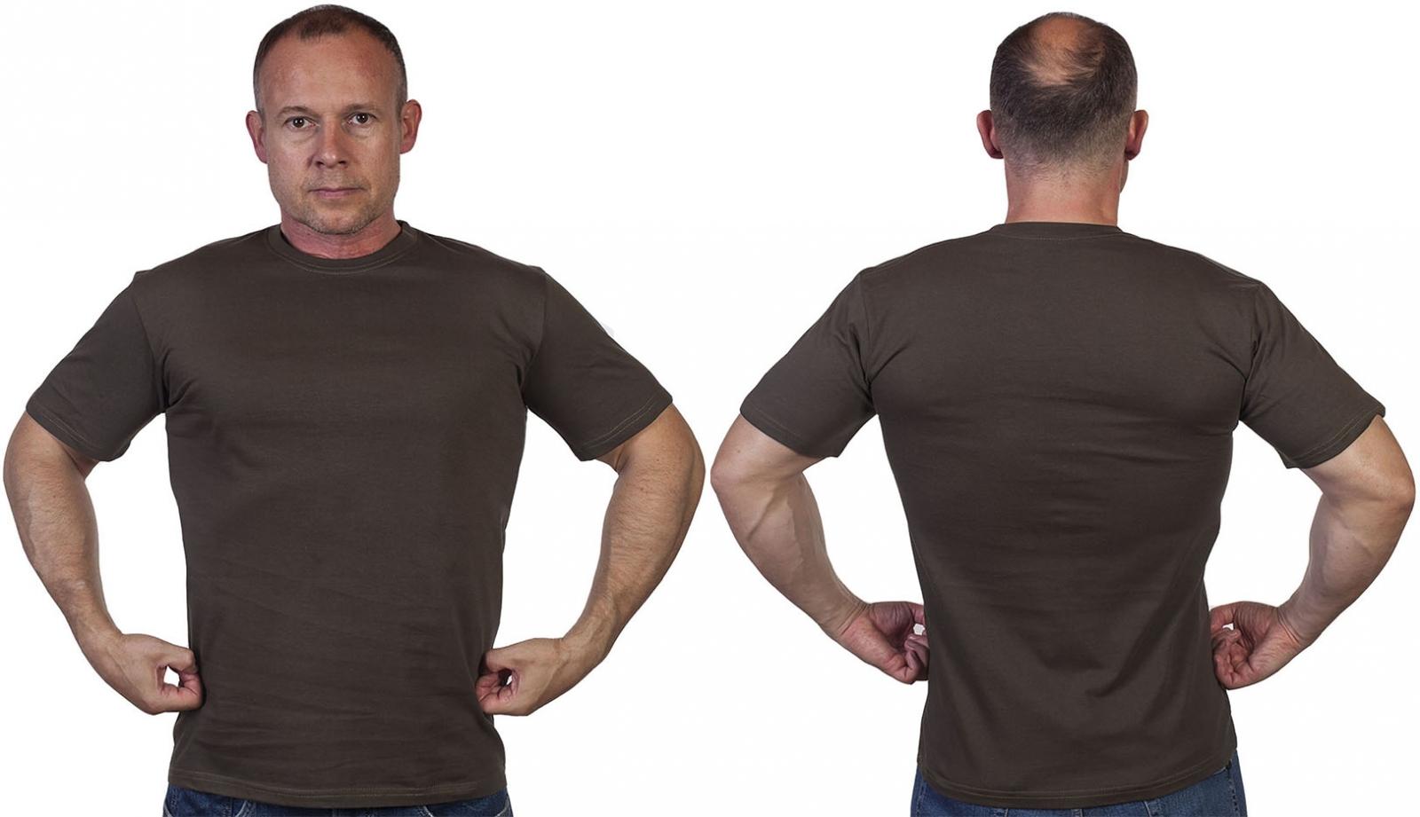 Мужская армейская футболка оливковая =- заказать оптом