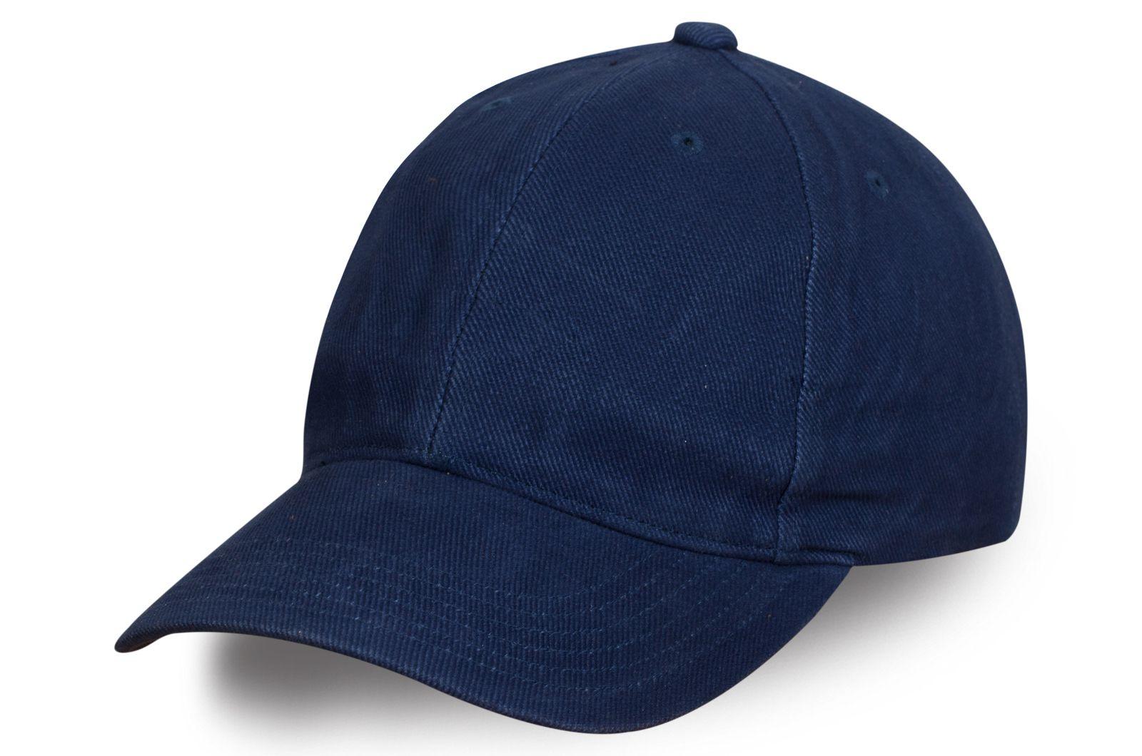 Мужская бейсболка синего цвета