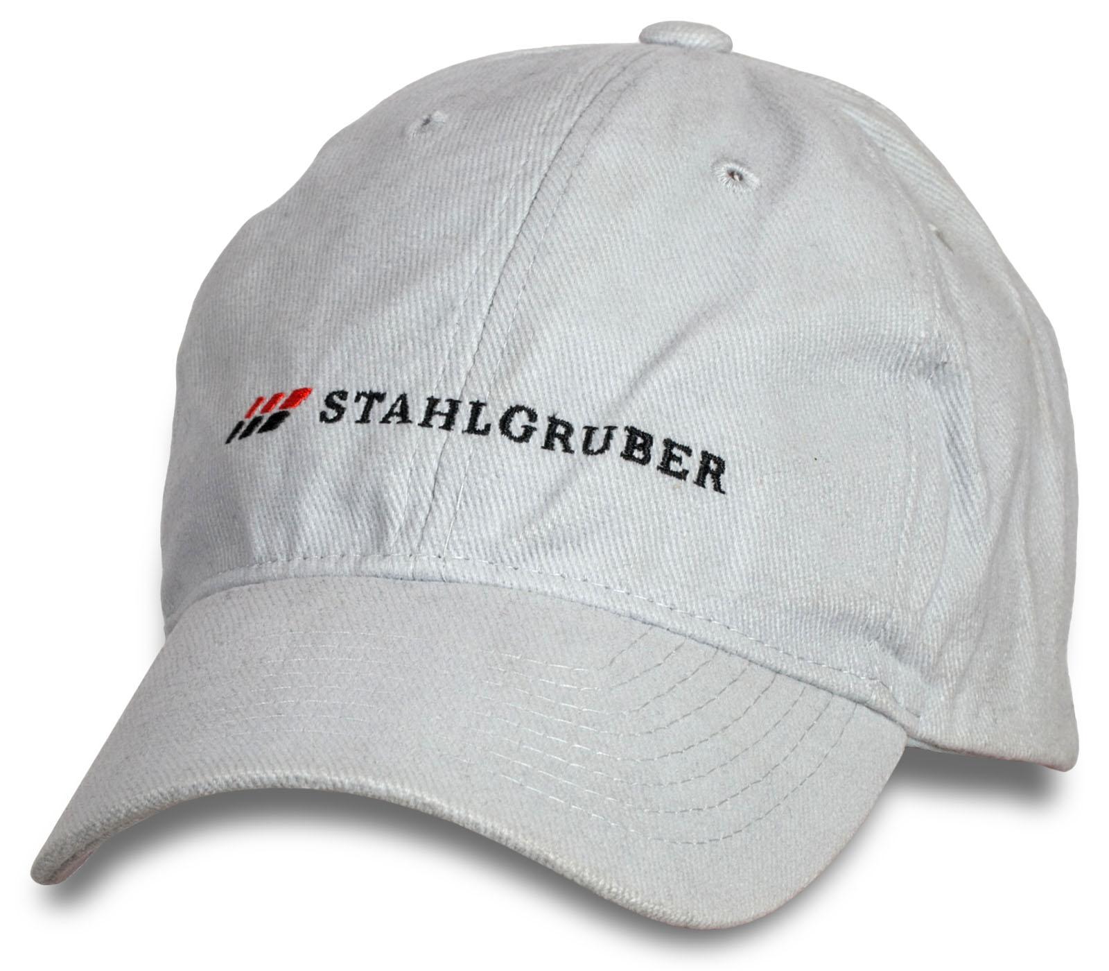 Мужская белая бейсболка Stahlgruber.