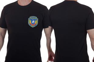Мужская черная футболка с вышитой эмблемой 743 отдельный батальон связи 7 ДШД - купить выгодно