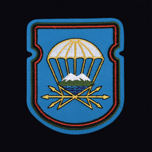 Мужская черная футболка с вышитой эмблемой 743 отдельный батальон связи 7 ДШД - купить в розницу или оптом