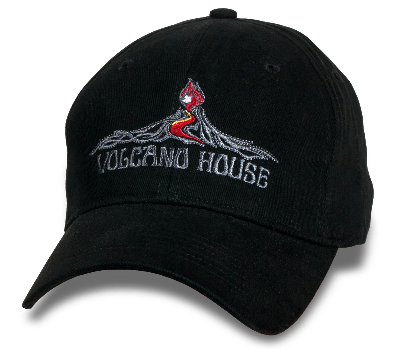 Мужская черная кепка Hawaii Volcano House.