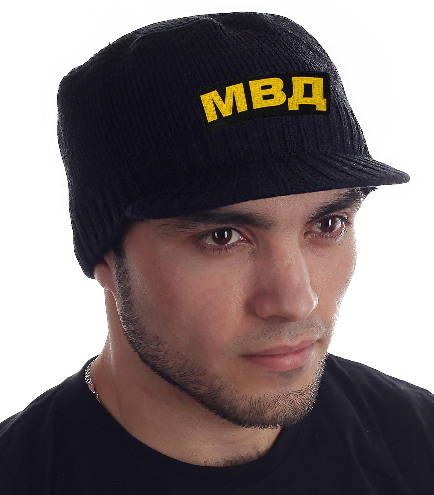 Купить мужскую черную кепку МВД от Miller Way с доставкой в ваш город