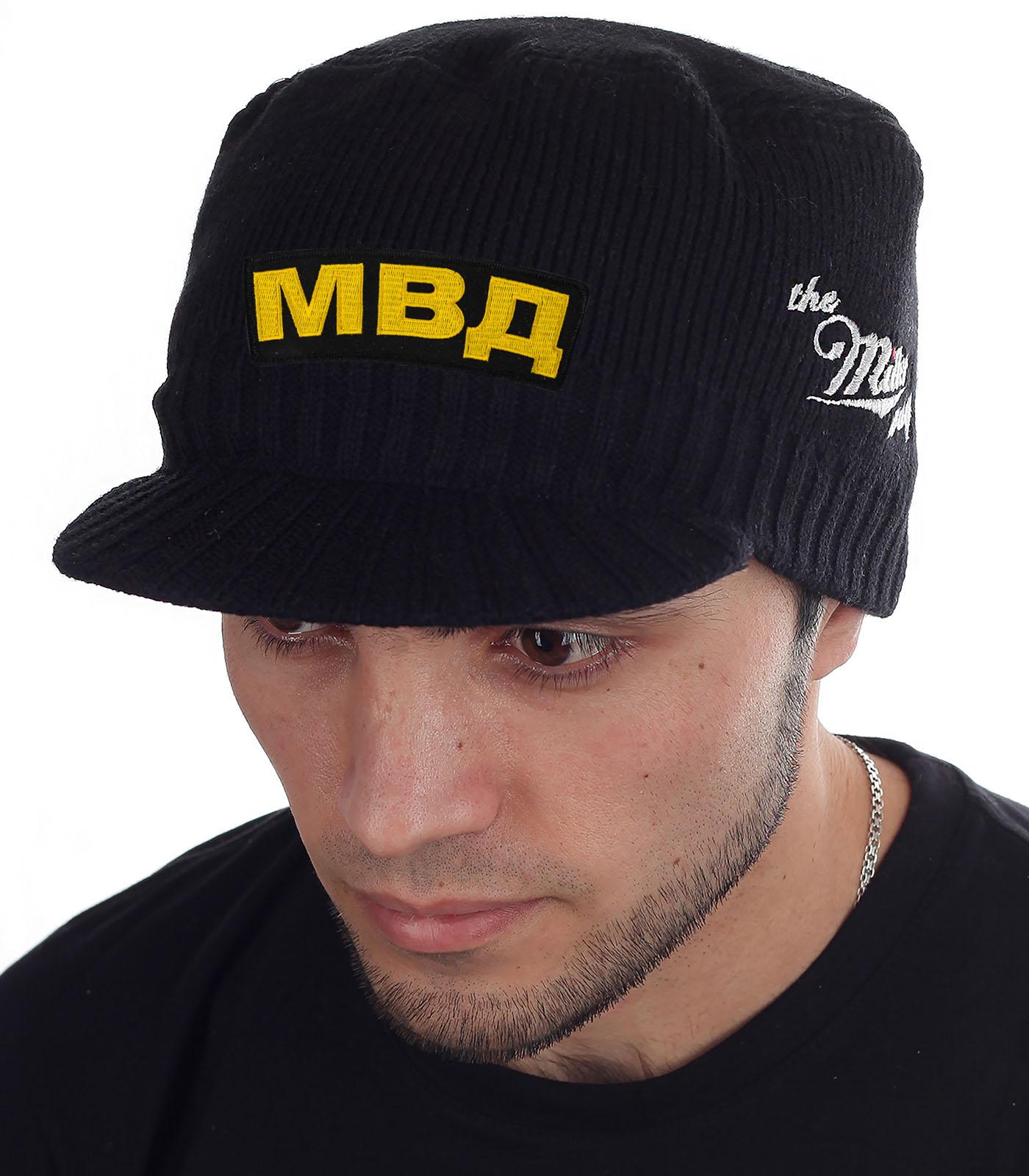 Мужская черная кепка МВД от Miller Way - заказать в подарок