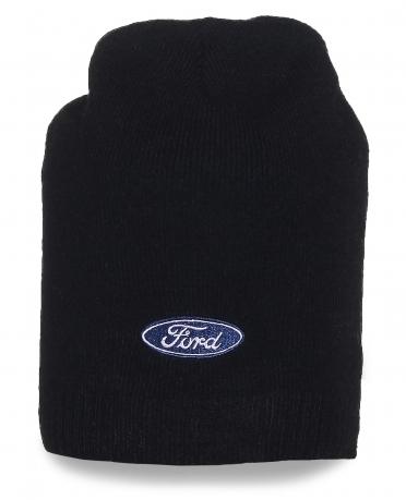 Мужская черная шапка Ford