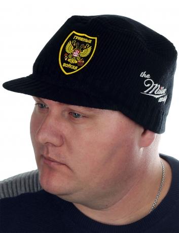 Мужская черная шапка с козырьком от бренда Miller Way