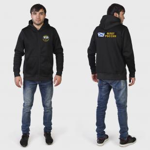 Мужская черная толстовка с большой нашивкой 18 дивизия ТРПК СН - купить онлайн