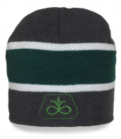 Мужская черно-зеленая шапка Dupont Pioneer в белую полоску