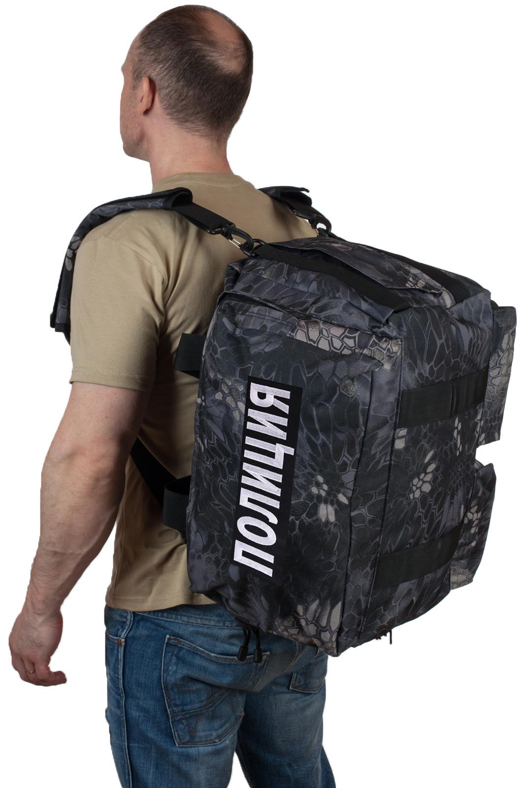 Купить мужскую дорожную сумку с нашивкой Полиция оптом или в розницу