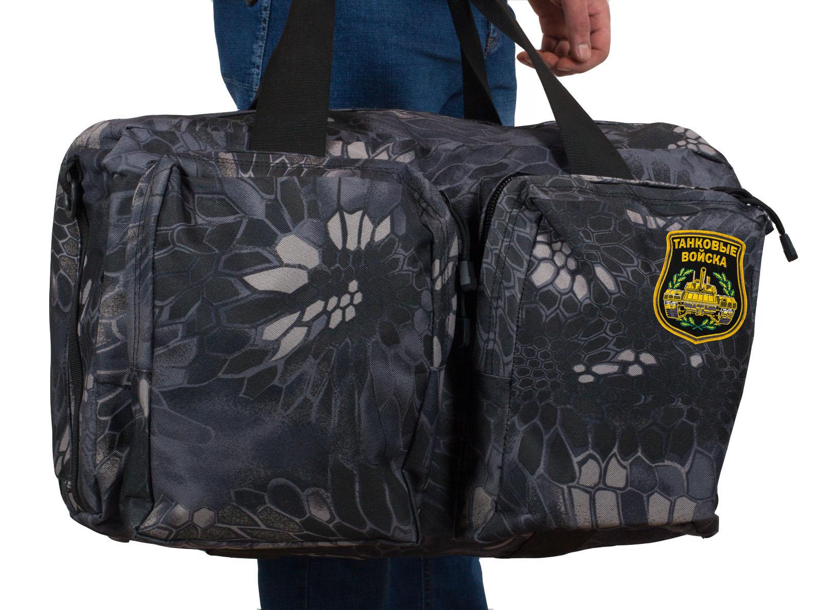 Мужская дорожная сумка с нашивкой Танковые Войска - заказать онлайн