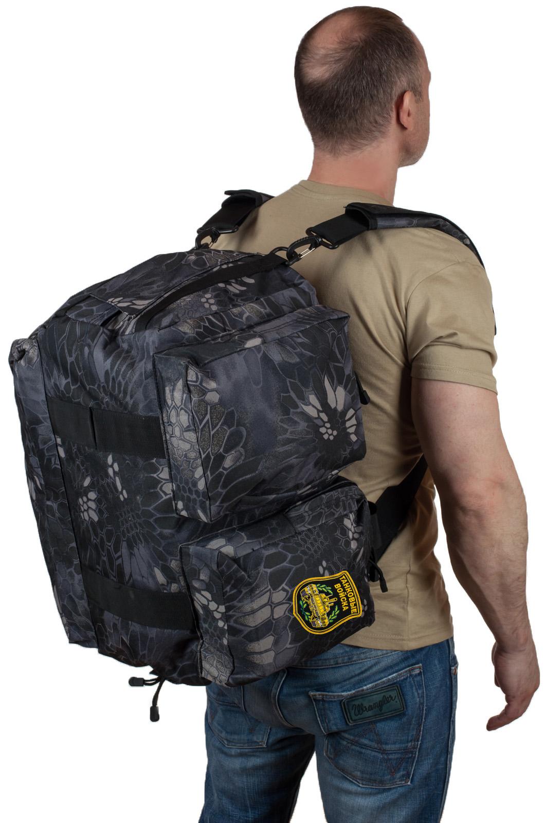 Мужская дорожная сумка с нашивкой Танковые Войска - заказать в подарок