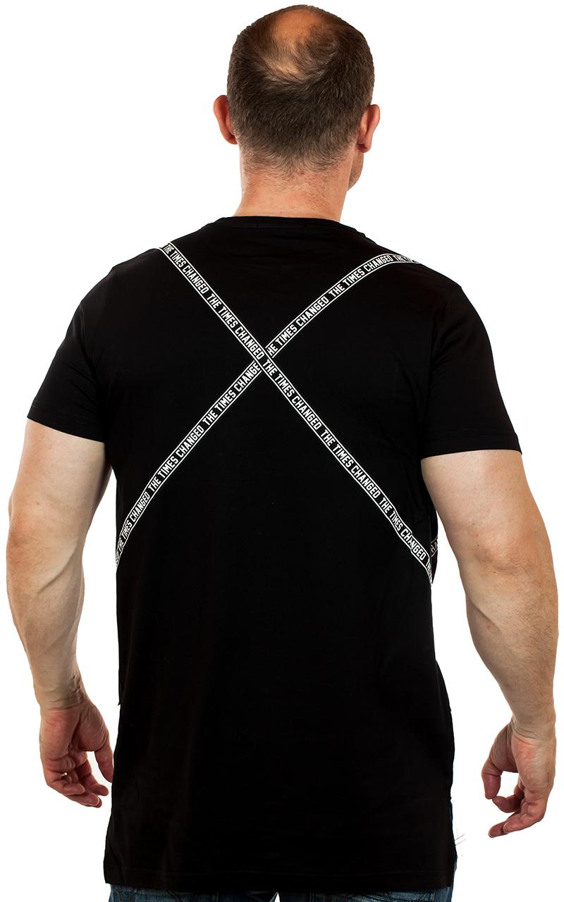Мужская двухцветная футболка от ТМ SPLASH (ОАЭ) с многозначной фразой «The Times Changed»