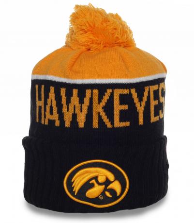 Мужская флисовая шапка Hawkeyes. Спортивная модель отличного качества. Удобно и тепло в любую погоду!