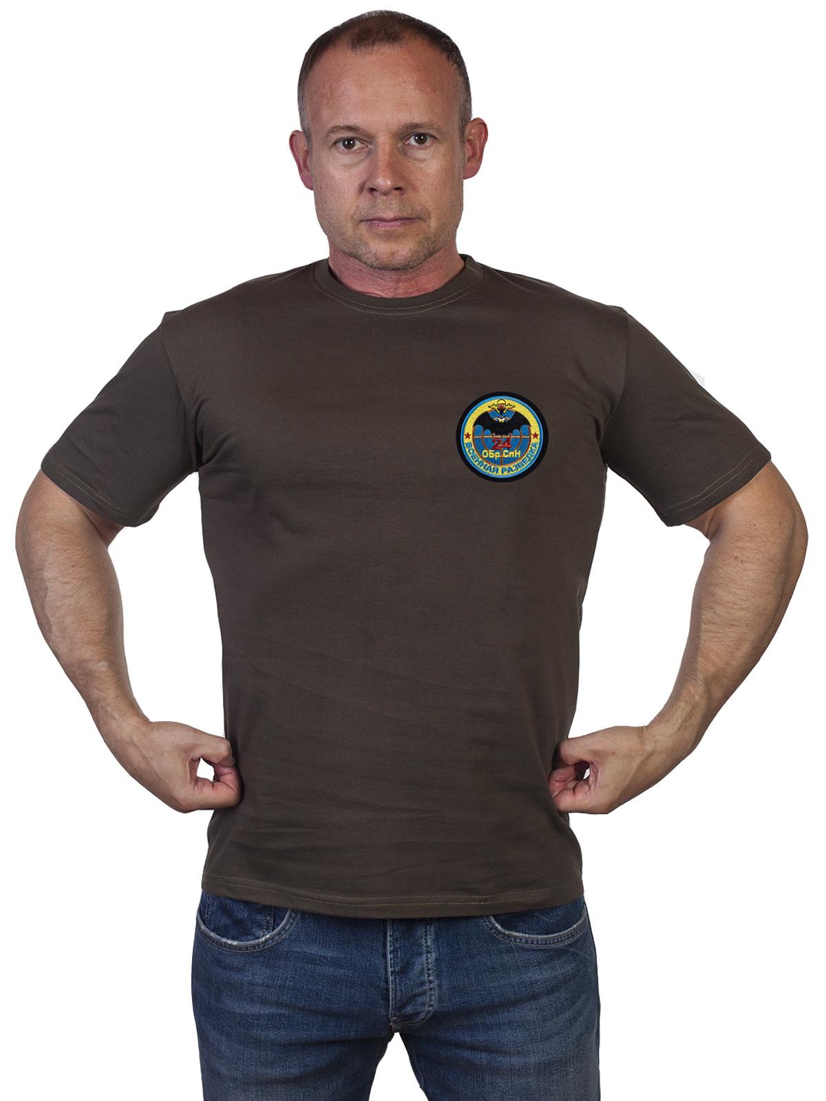Мужская футболка 24 ОБрСпН оливкового цвета