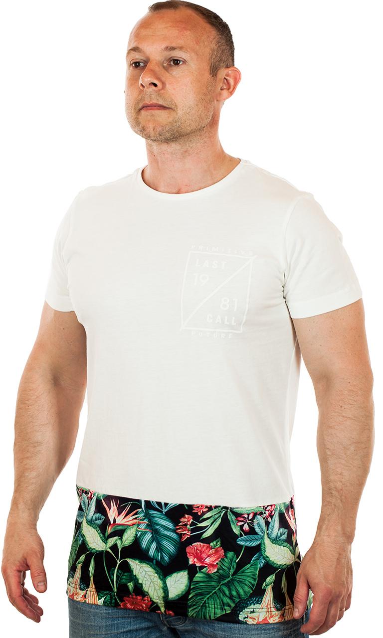 Купить мужскую футболку с цветочным принтом