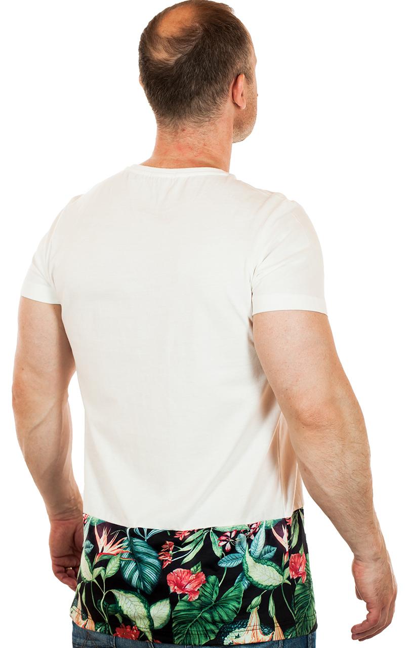 Мужская футболка с контрастным цветочным принтом от ТМ SPLASH. Флористик стиль!