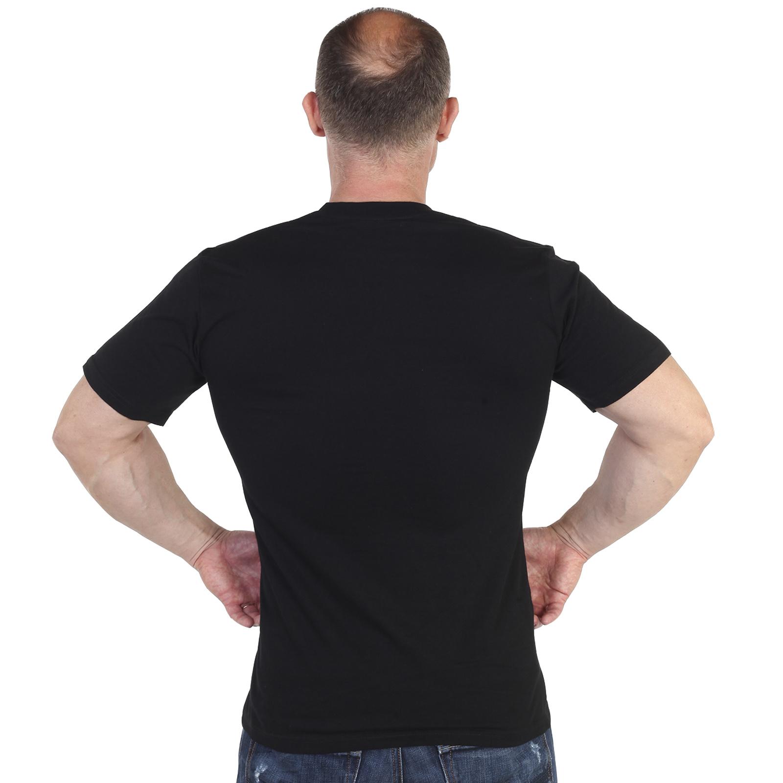 Мужская футболка ФСБ черного цвета - спинка
