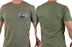 """Мужская футболка олива """"Кто видел в море корабли"""""""