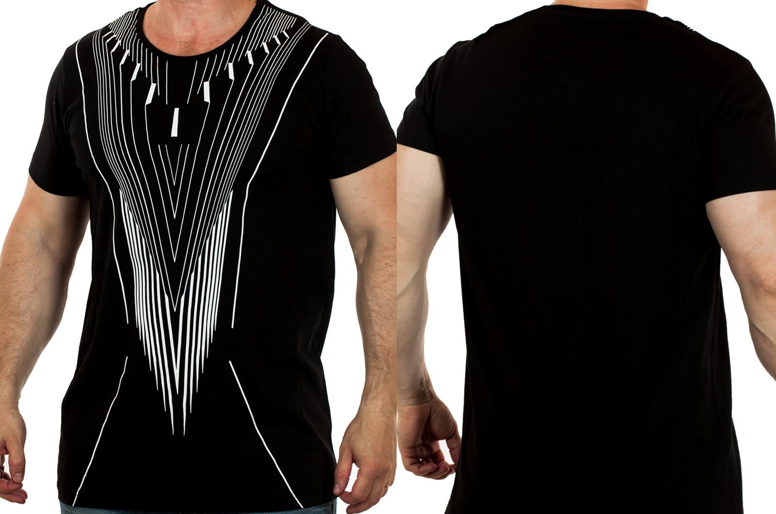 Мужская футболка от ТМ SPLASH с эффектом Доплера. Удлиненный фасон, популярные цвета
