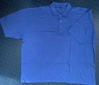 Мужская футболка поло голубого цвета