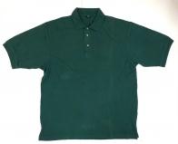 Мужская футболка-поло изумрудного цвета