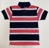 Мужская футболка-поло от Aleatory в полоску