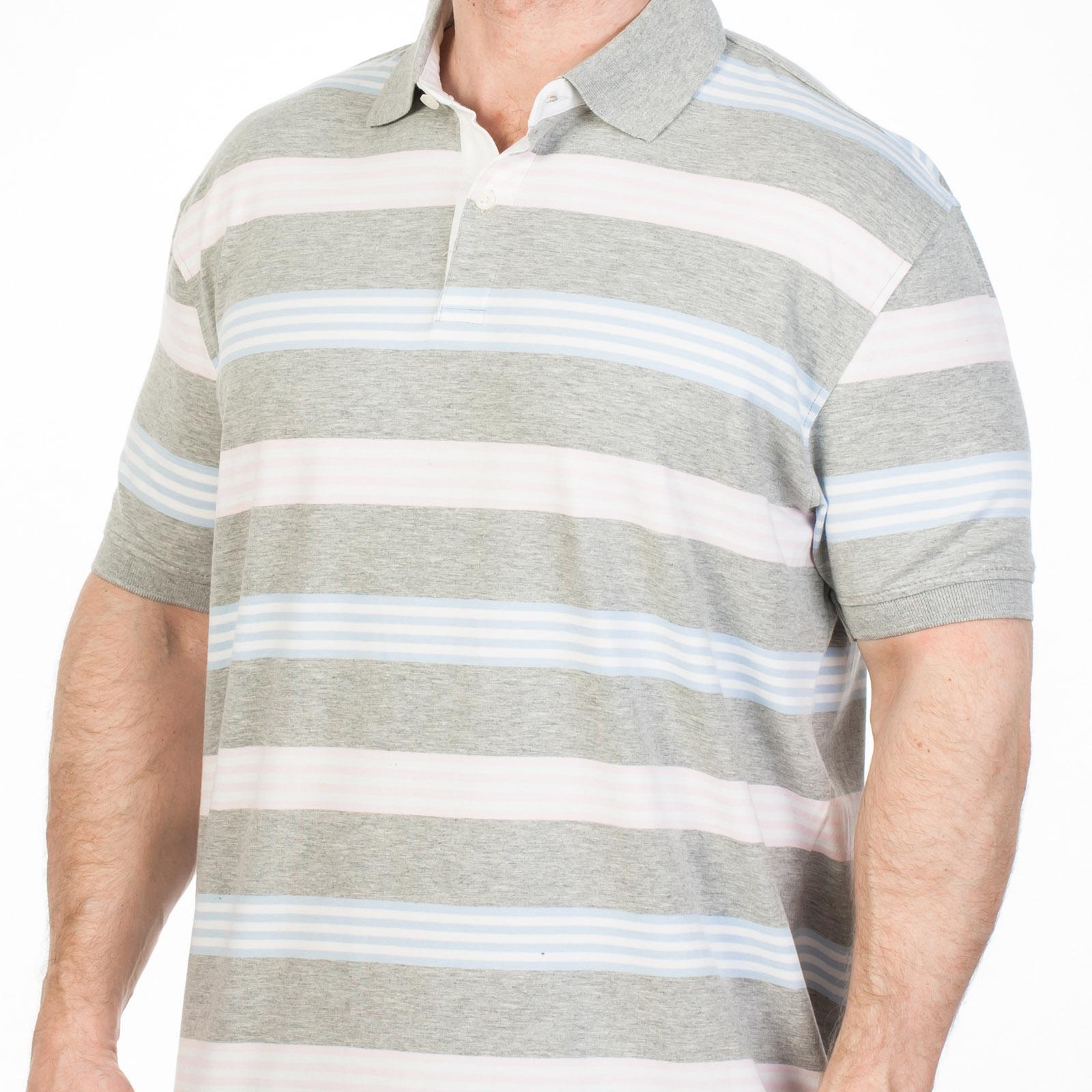 Мужская футболка-поло в полоску - купить с доставкой