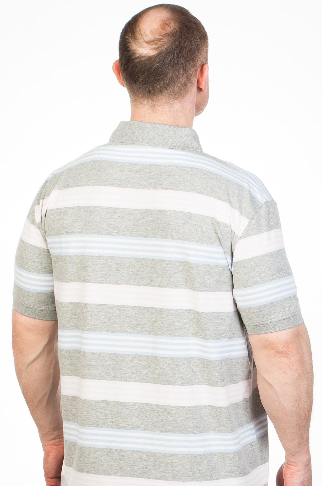 Мужская футболка-поло в полоску по выгодной цене