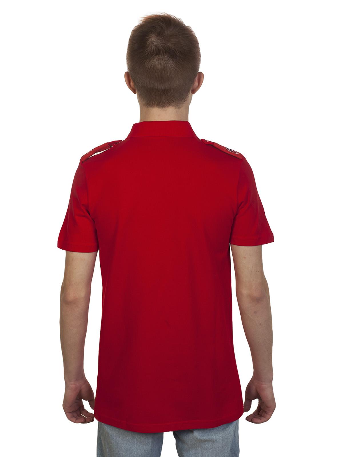 Уставная футболка поло с эмблемой Юнармии