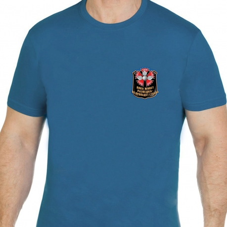 Мужская футболка разведчика с символом гвоздики.