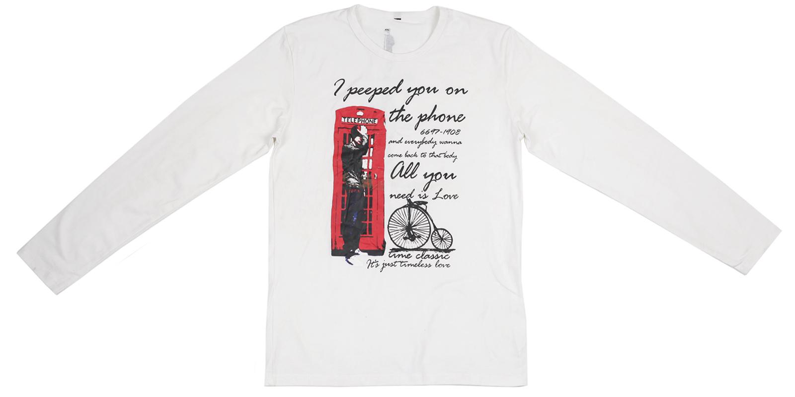 Мужская футболка с длинным рукавом. Стильная английская модель