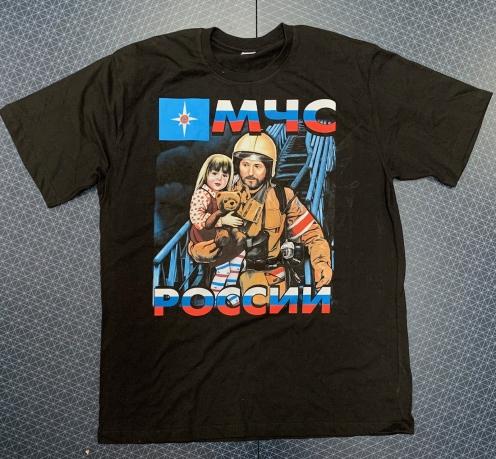Мужская футболка с принтом МЧС России