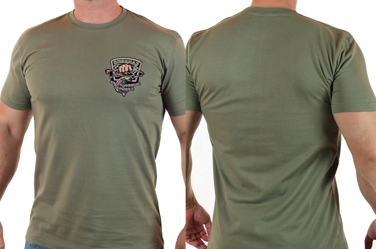 Мужская футболка с шевроном Рыболовных войск купить в подарок купить с доставкой