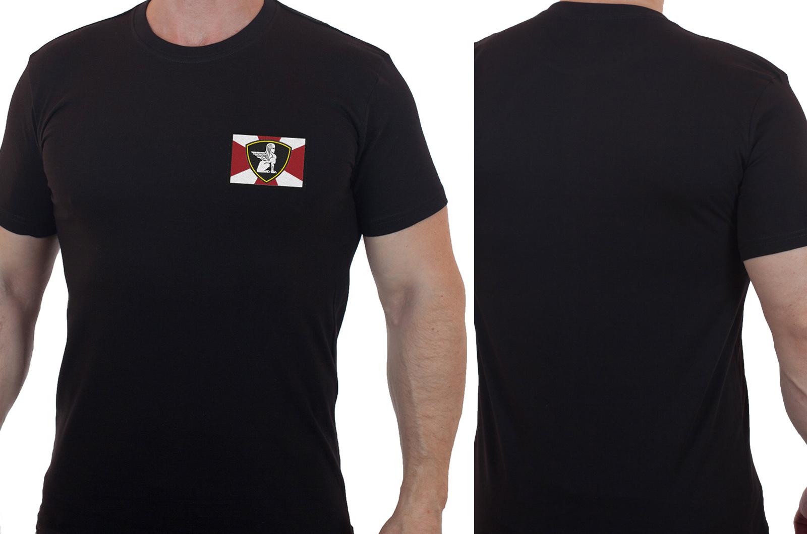 Мужская футболка с вышитым шевроном Северо-Западный округ МВД - купить в подарок