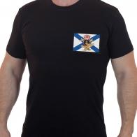 Мужская футболка с вышивкой ДШБ Морской Пехоты