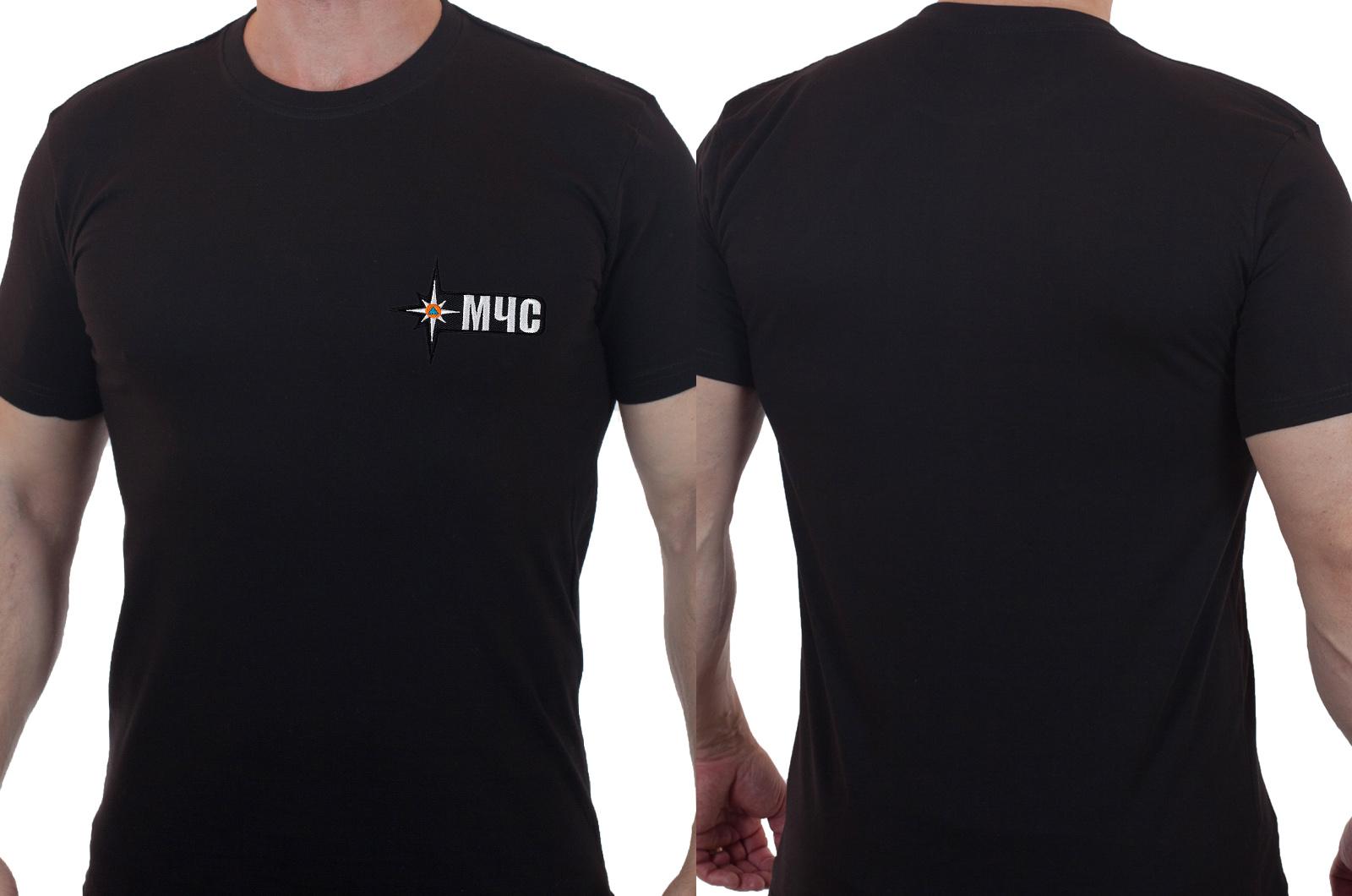 Мужская футболка с вышивкой МЧС