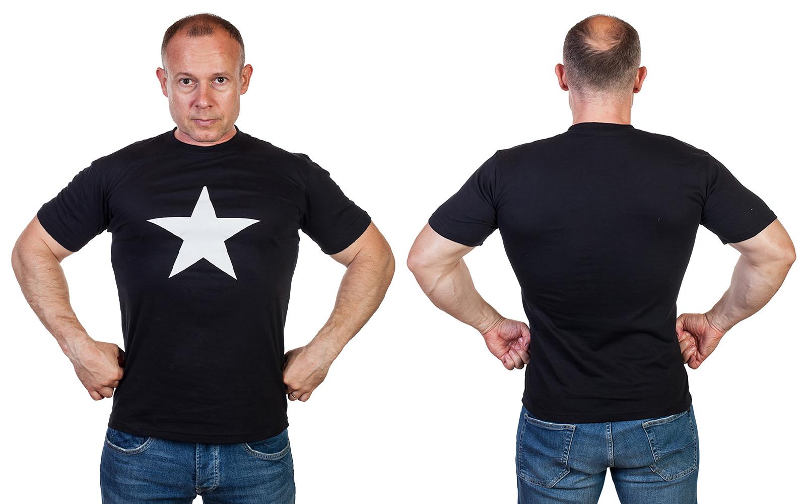 Мужская футболка со звездой