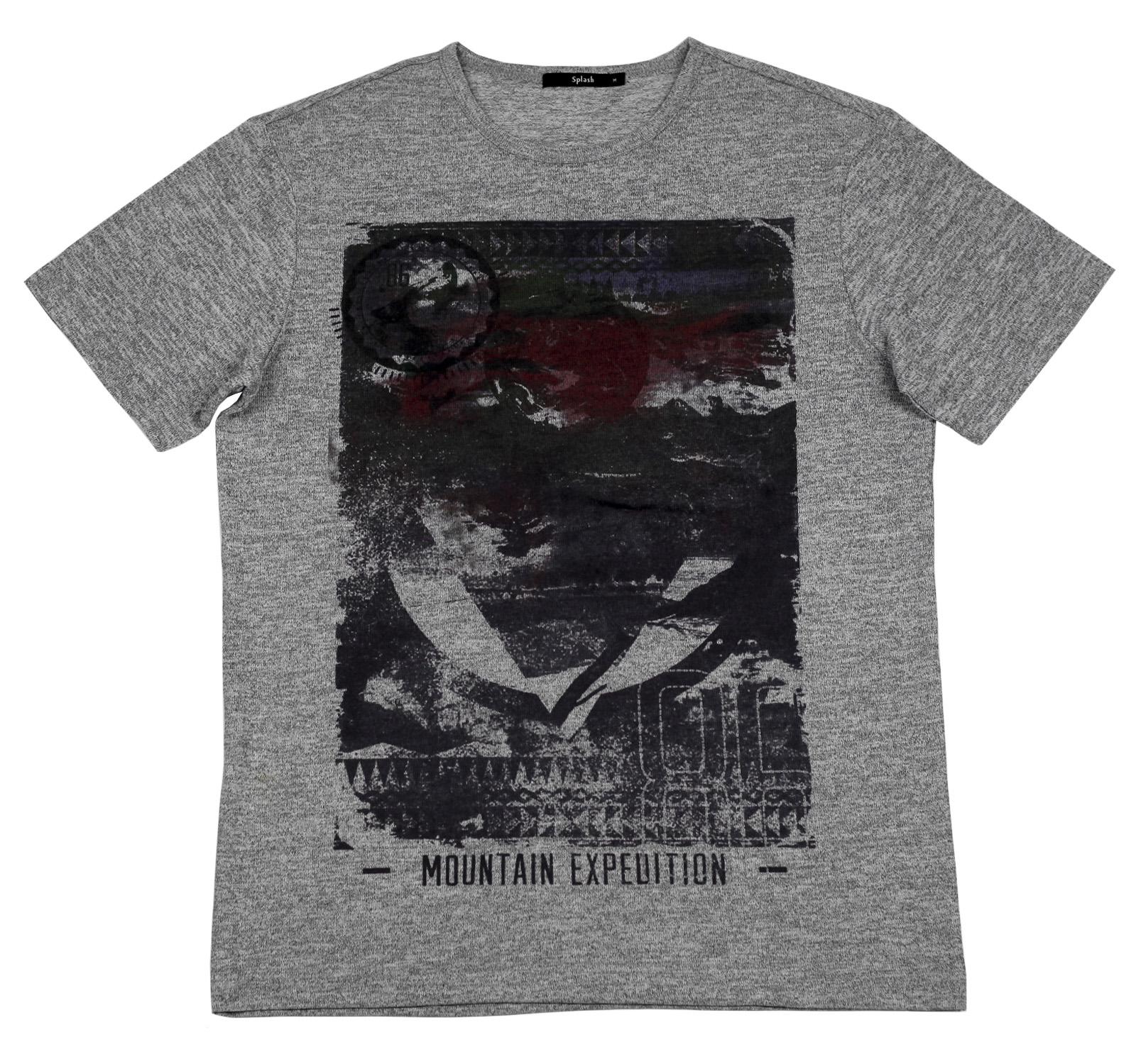 Мужская футболка Splash. Практичный цвет, удобный покрой