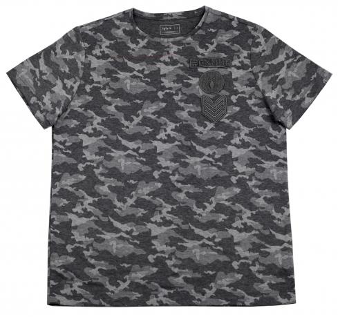 Мужская футболка Splash серый камуфляж