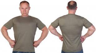 Мужская футболка цвета хаки с доставкой