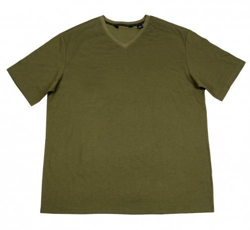 Мужская футболка цвета хаки. Спортивная модель из 100% хлопка