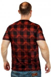 Мужская футболка в клетку с замками по бокам. Темпераментный стиль от Max Young man