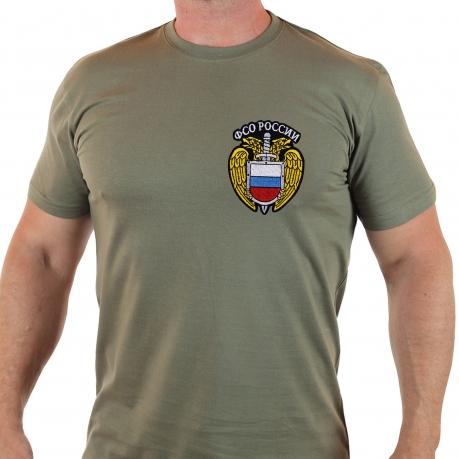 Мужская футболка в цвете хаки с эмблемой ФСО