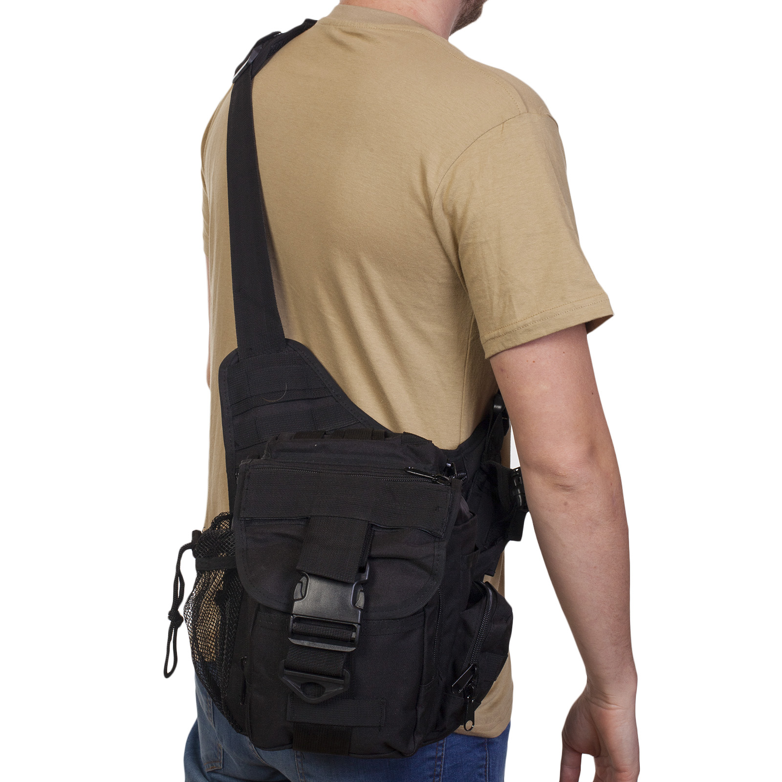 Мужская городская сумка однолямочная