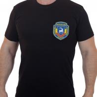 Мужская хлопковая футболка с вышитым шевроном Донских казаков - купить выгодно