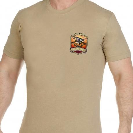 Мужская хлопковая футболка с вышитым шевроном Русская Охота