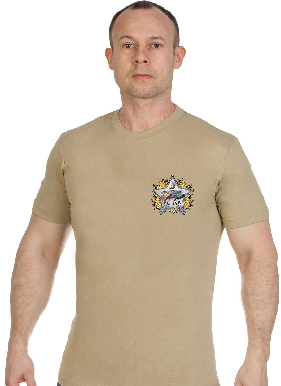 Мужская хлопковая футболка со звездой рыбака - заказать с доставкой