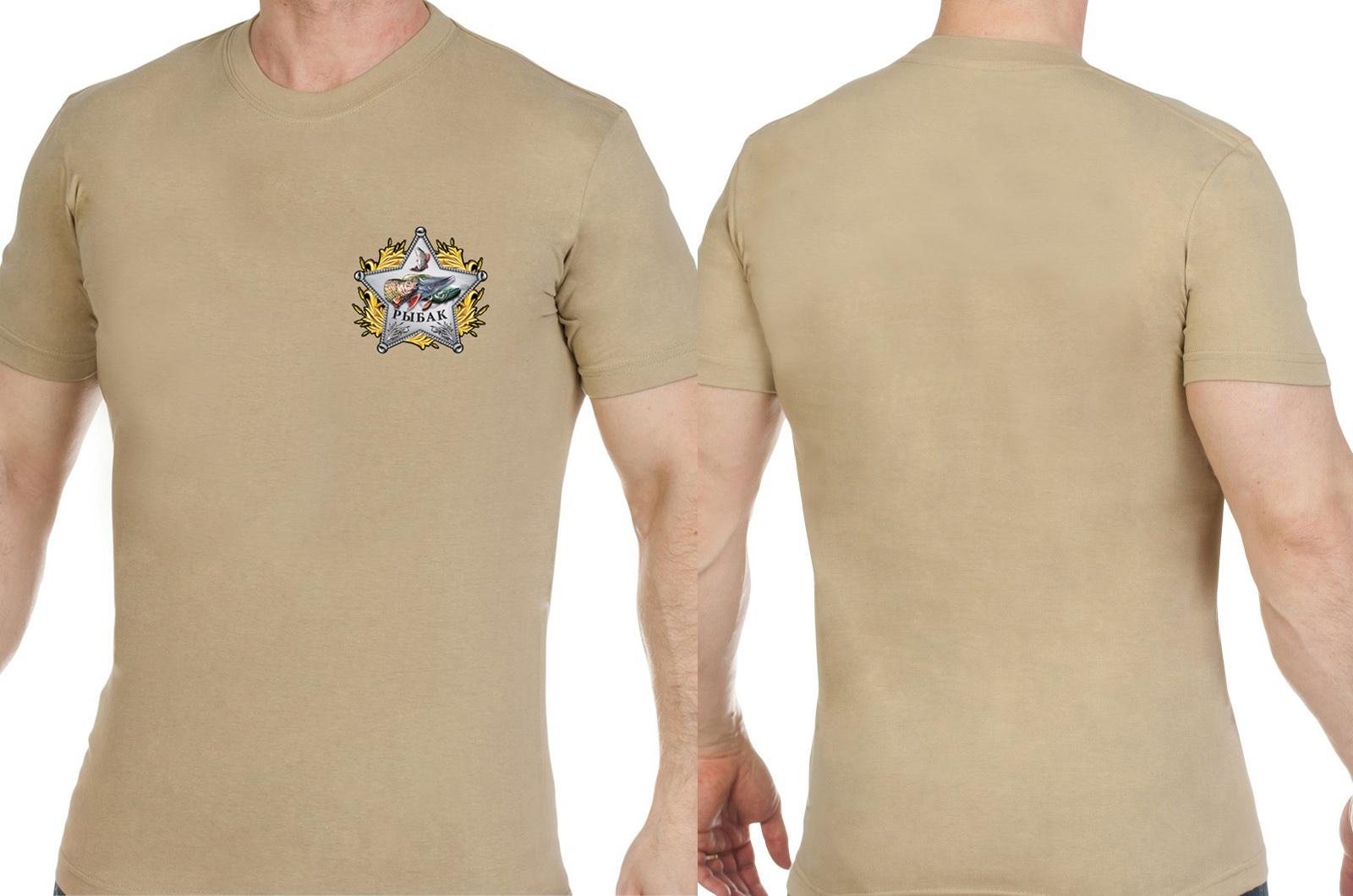 Мужская хлопковая футболка со звездой рыбака - купить в розницу
